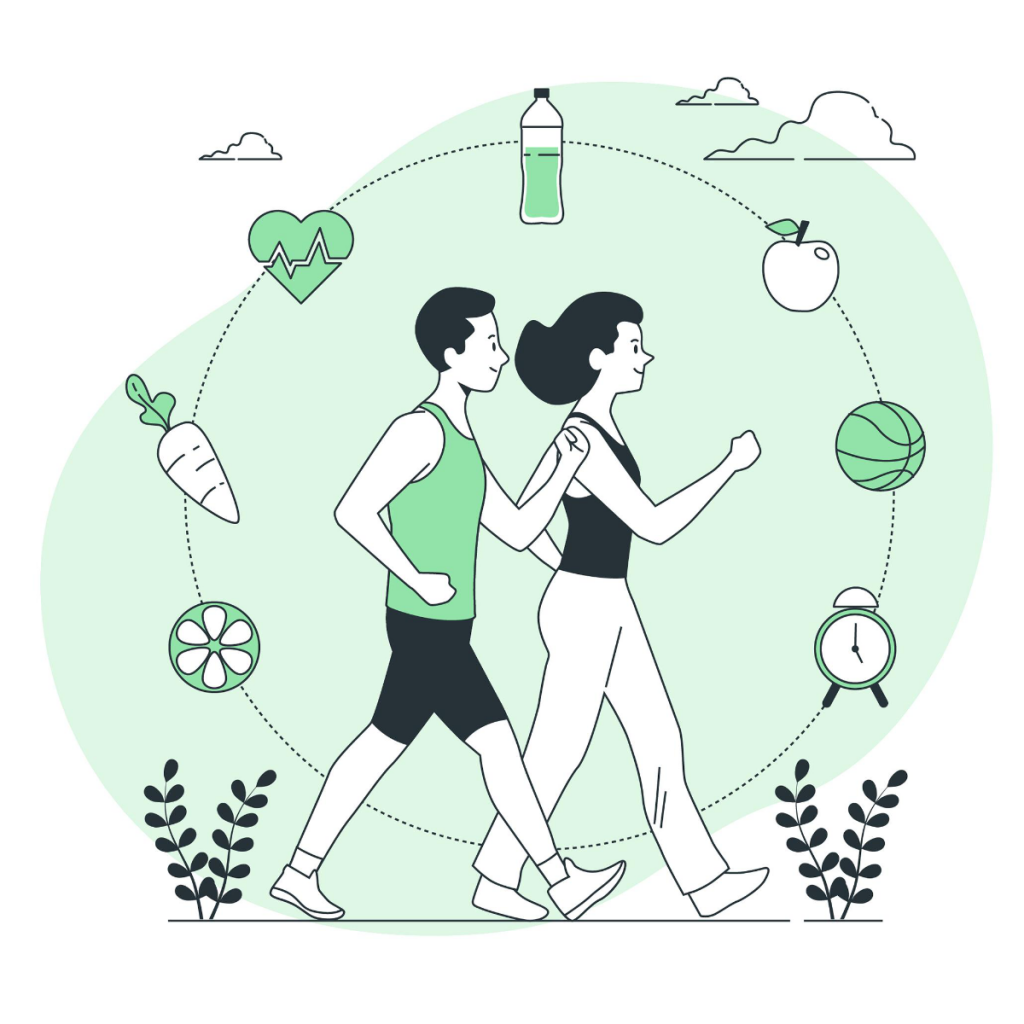Doing exercises together makes you more happy